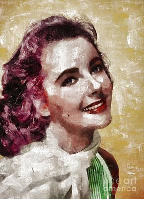 Elizabeth Taylor Painting - Elizabeth Taylor, Vintage Hollywood Legend By Mary Bassett by Mary Bassett