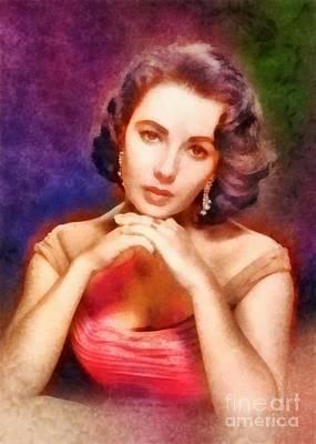 Elizabeth Taylor Painting - Elizabeth Taylor, Vintage Hollywood Legend by Frank Falcon