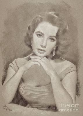 Elizabeth Taylor, Vintage Hollywood Legend Art Print