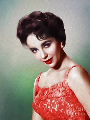 Actors Royalty-Free and Rights-Managed Images - Elizabeth Taylor, Vintage Movie Star by Mary Bassett