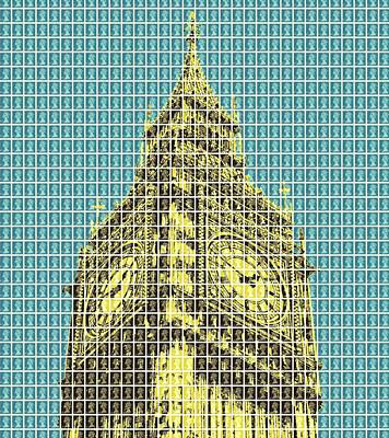 Elizabeth Tower - Dark Blue Original by Gary Hogben
