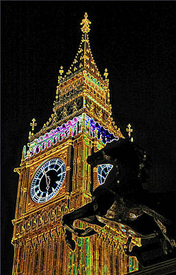 Photograph - Elizabeth Tower In London by Carl Purcell