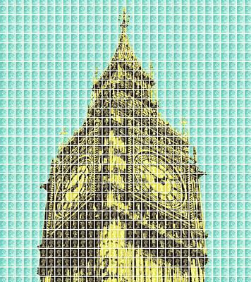 Elizabeth Tower - Light Blue Original by Gary Hogben