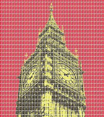 Elizabeth Tower - Red Original by Gary Hogben