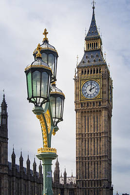 Big Ben Photograph - Elizabeth Tower Viewed From Westminster Bridge by AMB Fine Art Photography