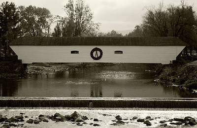 Elizabethton Covered Bridge Art Print by Jeff Severson