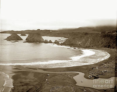 Photograph - Elk Cove And Greenwood Landing Mendocino Coast Circa 1950 by California Views Archives Mr Pat Hathaway Archives