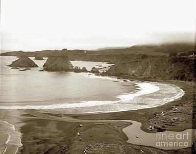 Photograph - Elk Cove And Greenwood Landing Mendocino Coast Circa 1950 by California Views Mr Pat Hathaway Archives