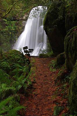 Photograph - Elk Creek Falls Viewpoint 2 by Ken Dietz