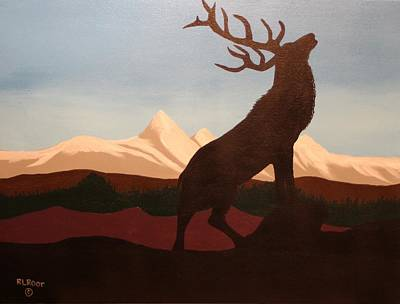 Painting - Elk In Rocky Mountain National Park by Ralph Root