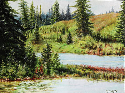 Painting - Elk Island National Park by Steve James