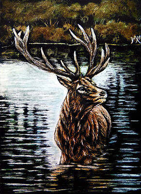 Painting - Elk Lake by Monique Morin Matson