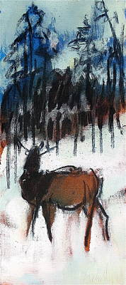 Painting - Elk by Les Leffingwell
