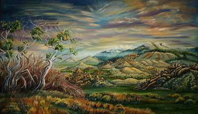 Painting - Elk Mountain Sunrise by Dawn Senior-Trask