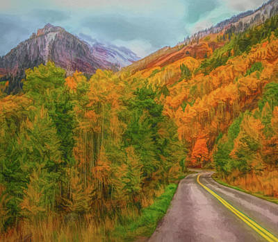 Painting - Elk Mountains Colorado Autumn Roads by Dan Sproul