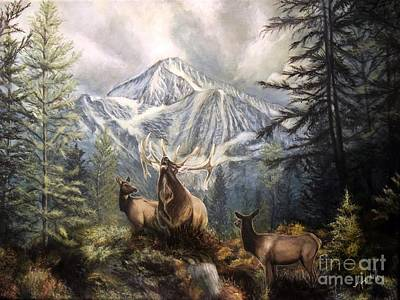 Painting - Elk Ridge by Amanda Hukill