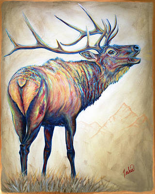 Painting - Elk Ridge by Teshia Art