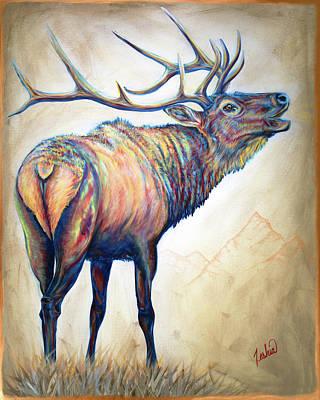Animal Painting - Elk Ridge by Teshia Art