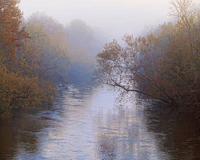 Photograph - Elk River Fog by TnBackroadsPhotos