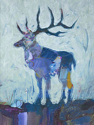 Painting - Elk by Shelli Walters