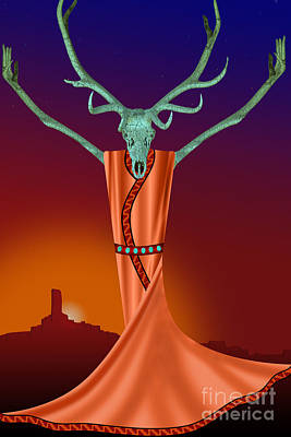 Digital Art - Elk Spirit by Tim Hightower