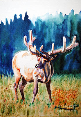 Painting - Elk by Tracy Rose Moyers