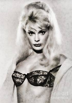 Elke Sommer, Vintage Actress By John Springfield Art Print