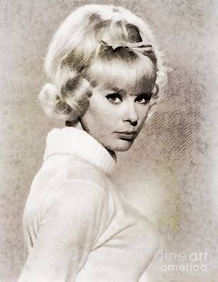Music Paintings - Elke Sommer, Vintage Actress by Esoterica Art Agency