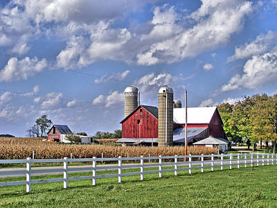 Middlebury Photograph - Elkhart County Farm by Ben Prepelka