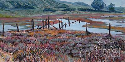 Painting - Elkhorn Slough Morning by Betsee Talavera