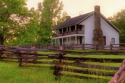 Elkhorn Tavern At Pea Ridge - Arkansas - Civil War Art Print