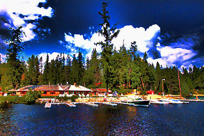 Digital Art - Elkins Resort by David Patterson