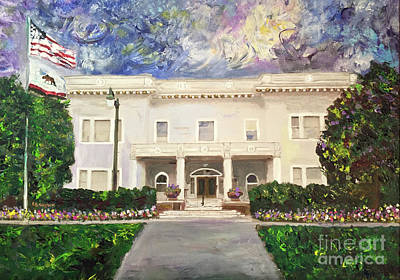 Painting - Alameda Elks, Lodge #1015 by Linda Weinstock