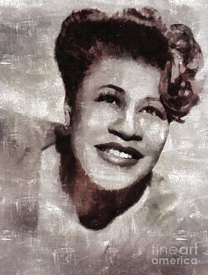 Rock And Roll Royalty-Free and Rights-Managed Images - Ella Fitzgerald by Mary Bassett by Mary Bassett