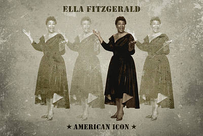 Songstress Digital Art - Ella Fitzgerald by David Richardson