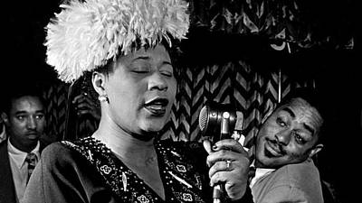 Ella Fitzgerald Dizzy Gillespie And Ray Brown William Gottlieb Photo Nyc 1947-2015 Art Print