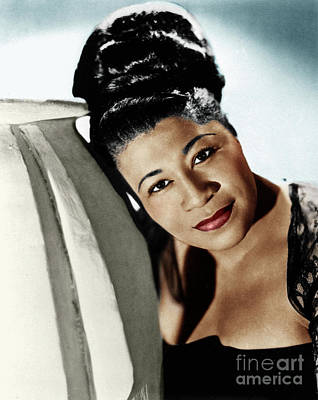 Photograph - Ella Fitzgerald by Granger