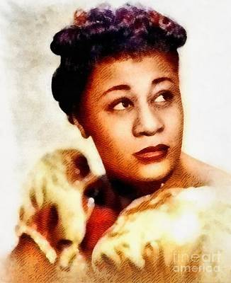 Music Royalty-Free and Rights-Managed Images - Ella Fitzgerald, Music Legend by John Springfield