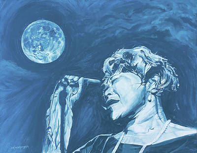 Painting - Ella Singing 'blue Moon' by Michael Morgan