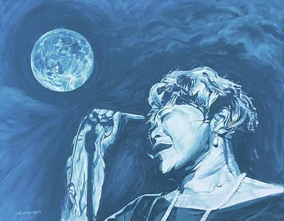 Ella Singing 'blue Moon' Art Print by Michael Morgan