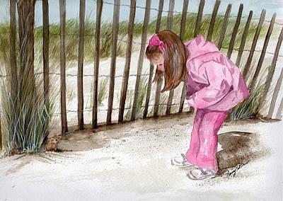 Painting - Ella Spots A Mouse  by Nancy Patterson