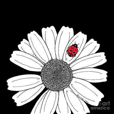 Ella's Daisy Art Print