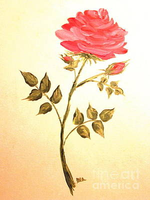 Painting - Ella's Rose by Leea Baltes