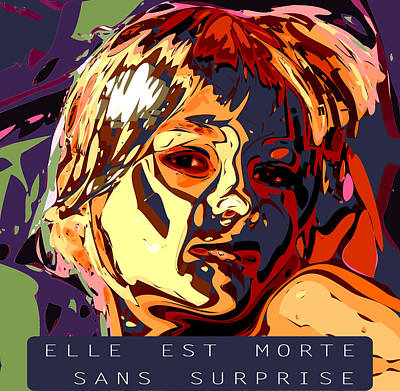 Digital Art - Elle Est Morte Sans Surprise by Kevin  Sherf
