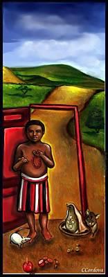 Orishas Digital Art - Elegua -guardian Of Crossroads by Carmen Cordova