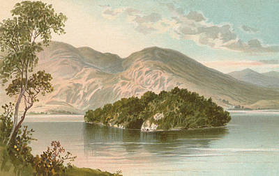 Scotland Drawing - Ellen's Isle   Loch Katrine by English School