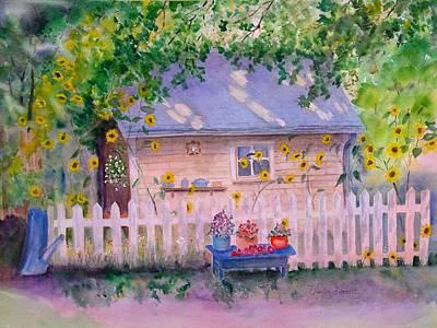 Potting Painting - Ellens' Potting Shed 2 by Vivian Larson