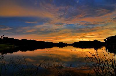 Photograph - Ellenton Lake Sunset 02 by Jonathan Sabin