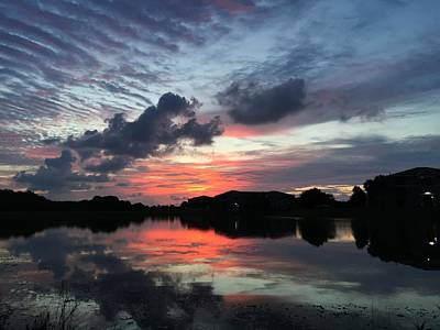 Photograph - Ellenton Lake Sunset 03 by Jonathan Sabin