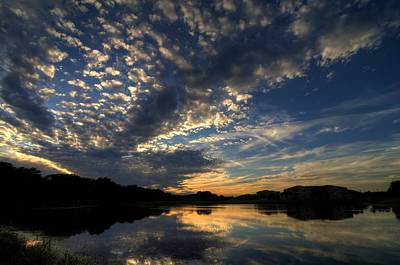 Photograph - Ellenton Lake Sunset 04 by Jonathan Sabin